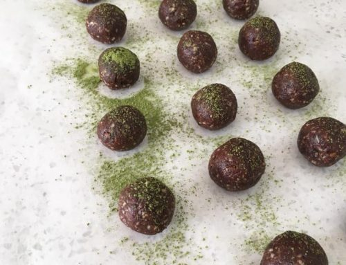 Matcha, Lavender And Cacao Bliss Balls